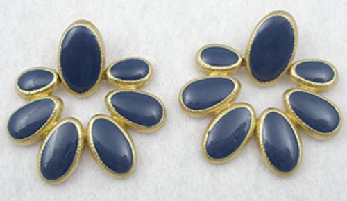 Newly Added Anne Klein Blue Floral Earrings