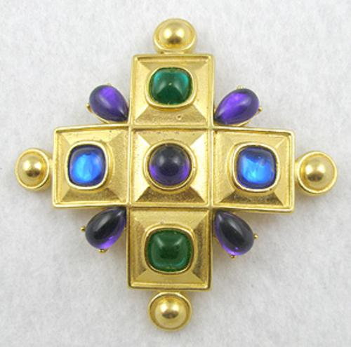 Newly Added Trifari Maltese Cross Brooch