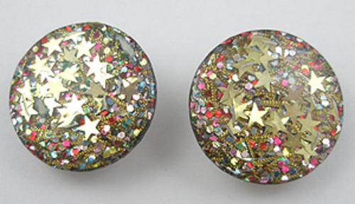 Newly Added Lucite Star Confetti Earrings