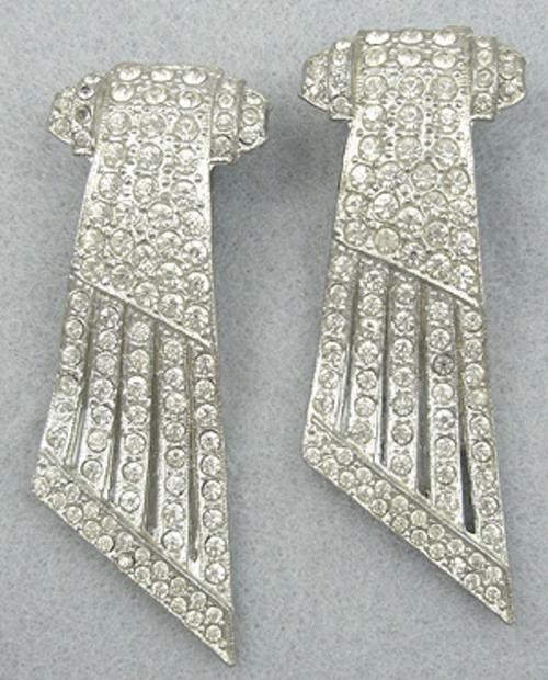 Newly Added Art Deco Rhinestone Dress Clips
