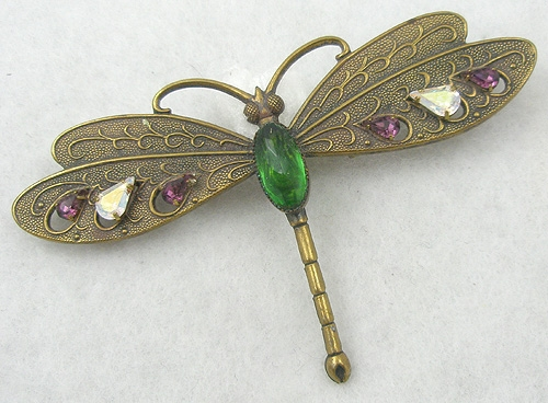 Newly Added Brass Dragonfly Brooch