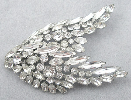 Newly Added Sherman Rhinestone Wings Brooch