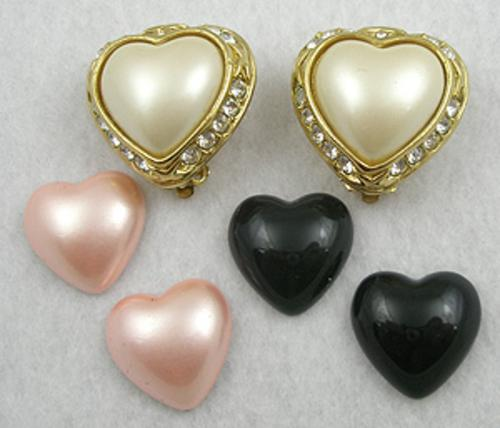 Newly Added Joan Rivers Interchangeable Heart Earrings