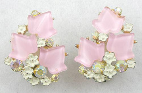 Newly Added B.S.K. Pink Ivy Earrings