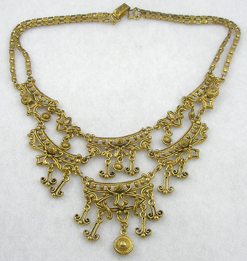 Newly Added Jeray Gold Bib Necklace