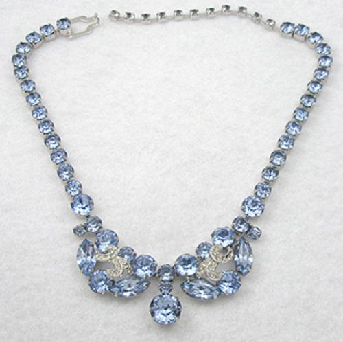 Newly Added Eisenberg Light Blue Rinestone Necklace