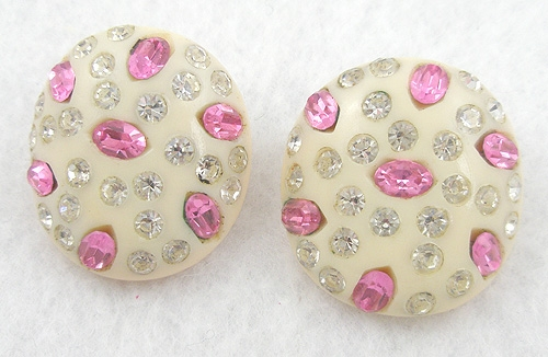 Newly Added Weiss Thermoset & Rhinestone Earrings