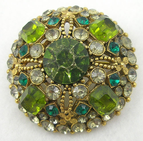 Newly Added Capri Dome Peridot Brooch