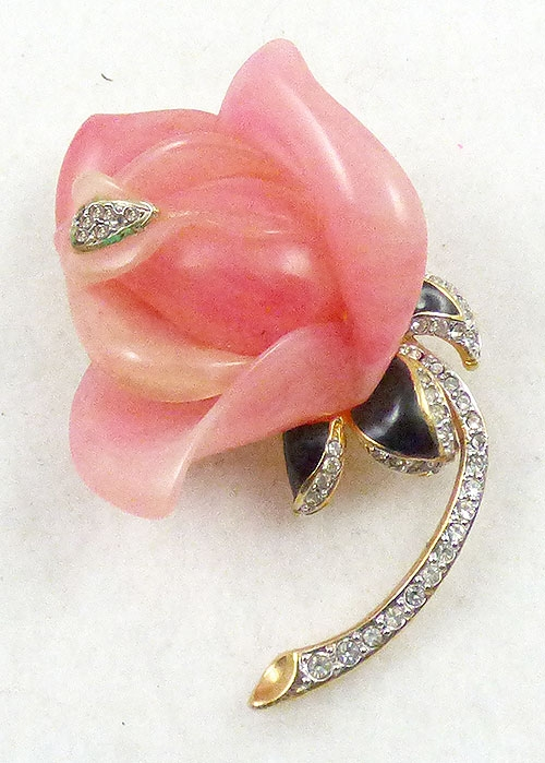 Newly Added Kenneth J. Lane Pink Rose Brooch