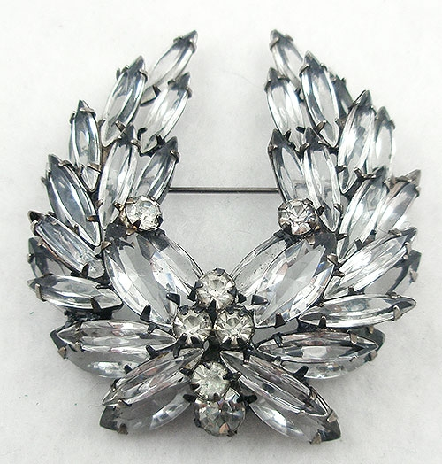 Newly Added DeLizza & Elster Crystal Wreath Brooch