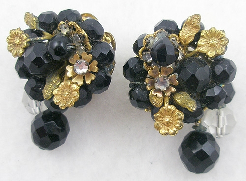 Newly Added DeMario Black Bead Earings