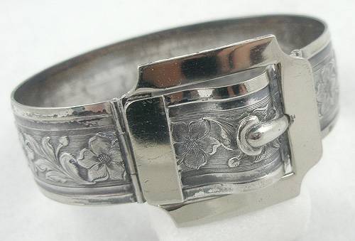 Newly Added Art Deco Sterling Buckle Bracelet