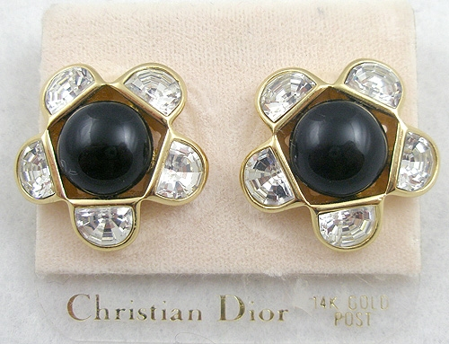 Newly Added Christian Dior Rhinestone Earrings
