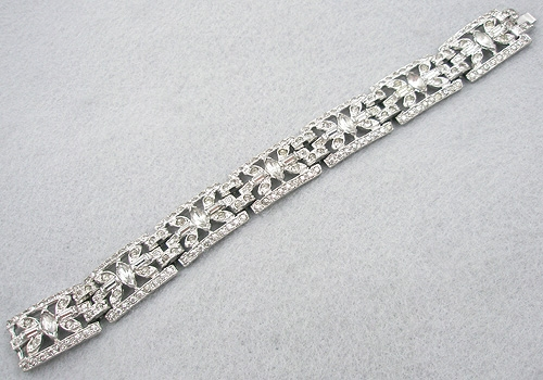 Newly Added Art Deco Rhinestone Bracelet