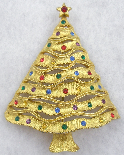 Newly Added Jonette Jewelry (J.J.) Christmas Tree Brooch