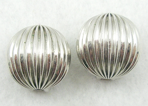 Newly Added Bartek Silver Fluted Earrings