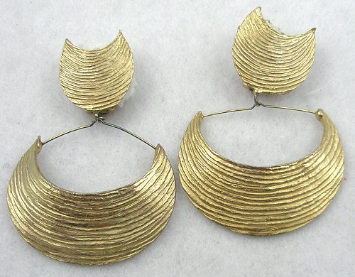 Newly Added Mosell Dangling Crescent Earrings