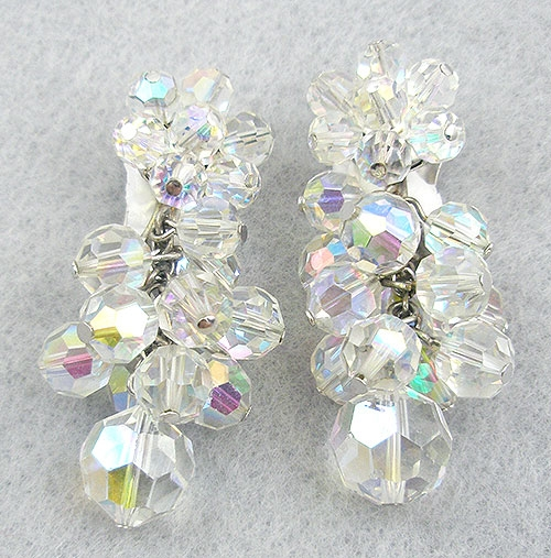 Newly Added Dangling Aurora Crystal Bead Earrings