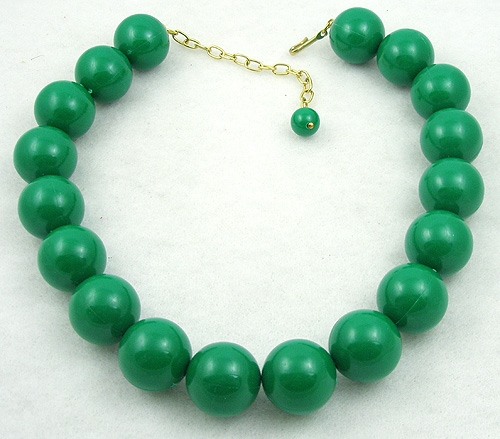Newly Added Green Bead Necklace