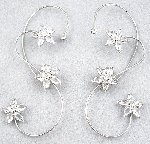 Newly Added Rhinestone Stars Earrings