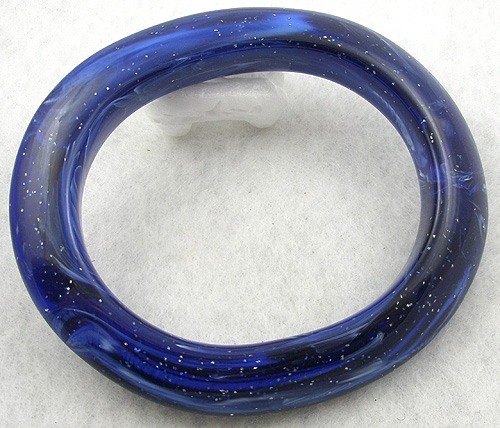 Newly Added Blue Lucite Glitter Bangle