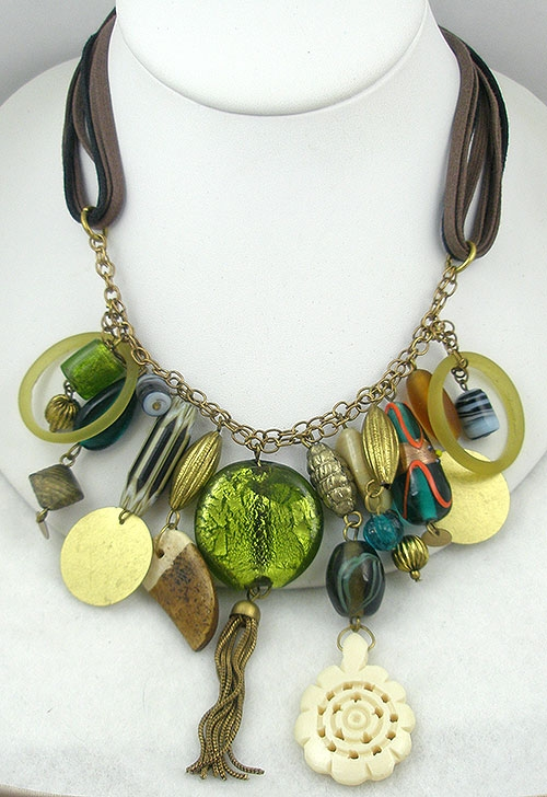 Newly Added Ventian Glass Beads Charms Necklace