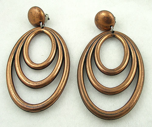 Newly Added Faux Copper Triple Hoop Earrings