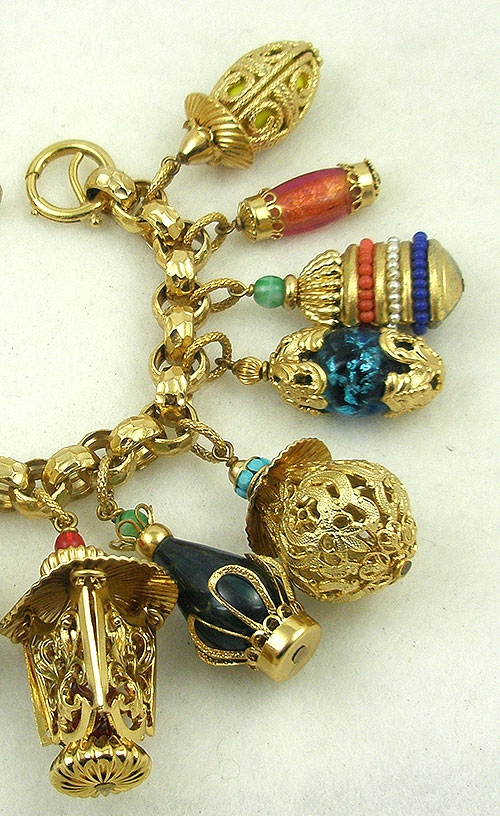 Napier Chinese Lanterns Charm Bracelet Garden Party