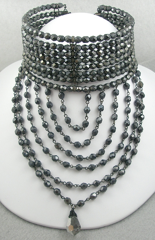 Newly Added Hematite Bead 8-Strand Wrap Choker Necklace