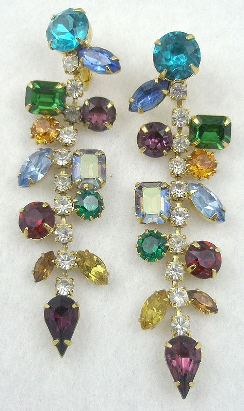 Newly Added Colorful Rhinestone Earrings