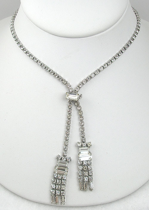 Newly Added Vintage Rhinestone Negligee Necklace