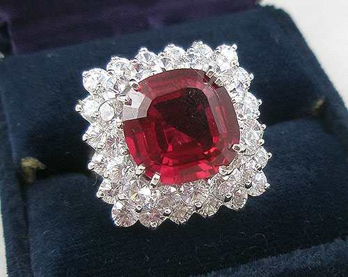 Newly Added Countess Madeleine Ruby Cubic Zirconia Ring
