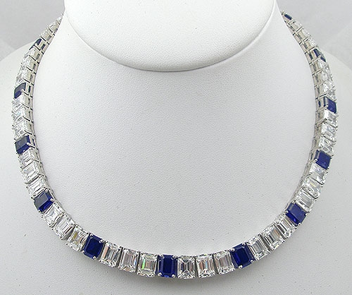 Newly Added Countess Madeleine Sapphire Cubic Zirconia Necklace