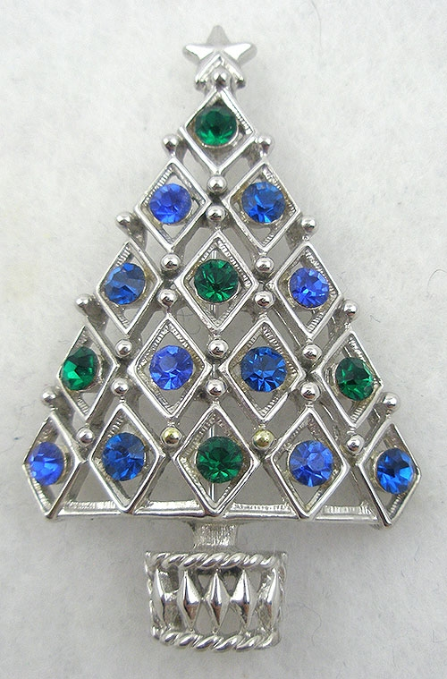 Newly Added Hedy Rhinestone Christmas Tree Brooch