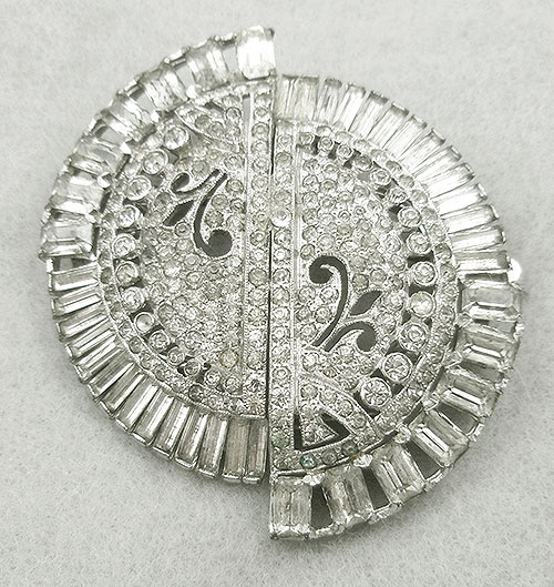 Newly Added Coro Art Deco Rhinestone Circular Duette