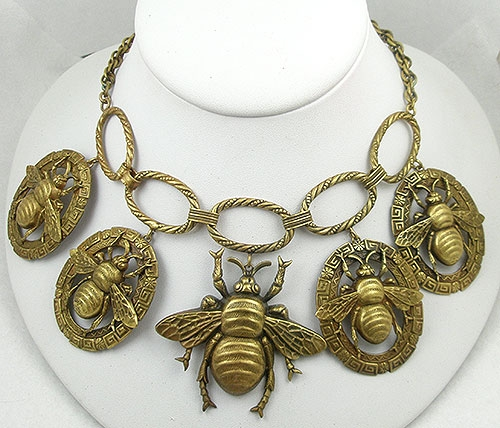 Newly Added Joseff of Hollywood Bee Necklace
