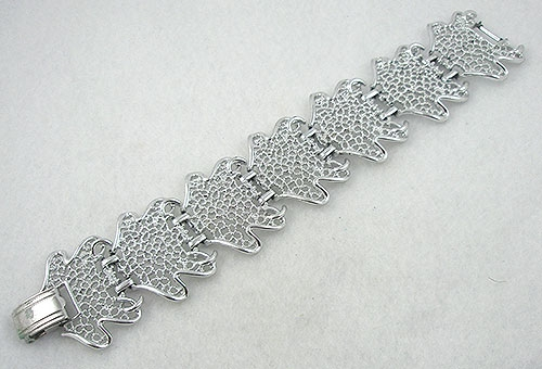 Newly Added Sarah Coventry Frosted Leaves Bracelet