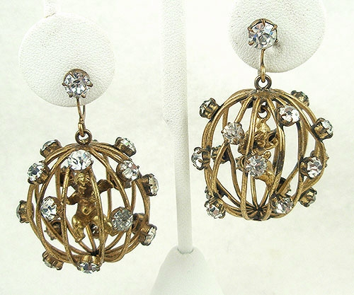 Newly Added Joseff of Hollywood Caged Cupid Earrings