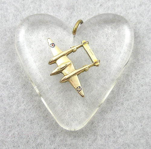 Newly Added Lucite Heart Sweetheart Pendant