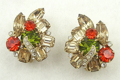 Newly Added Eisenberg Champagne Rhinestone Earrings