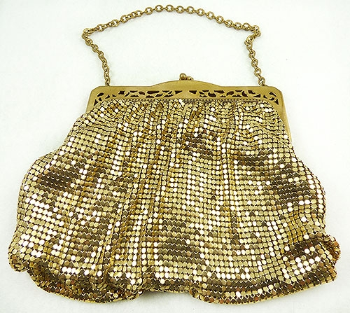 Newly Added Whiting and Davis Gold Mesh Purse
