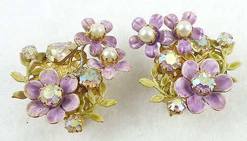 Newly Added Robert Lavender Flowers Earrings