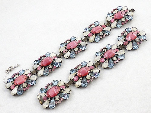 Newly Added Vendome Pink Givre & Alexandrite Bracelets Pair