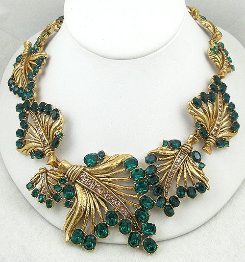 Oscar de la Renta Emerald Leaves Necklace - Garden Party ...