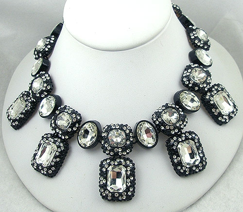 Newly Added Contemporary Japanned Rhinestone Necklace