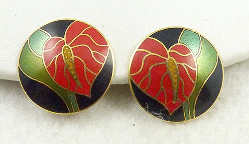 Newly Added Laurel Burch Anthurium Earrings
