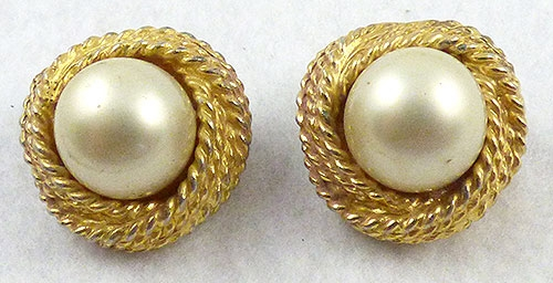 Newly Added K.J.L. Kenneth Lane Pearl Earrings