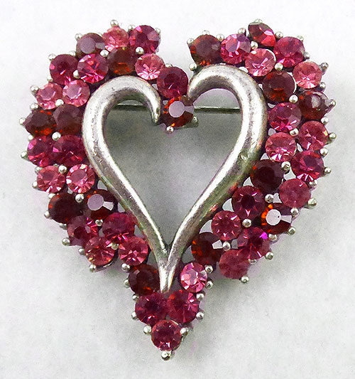 Newly Added Hobé Rhinestone Heart Brooch