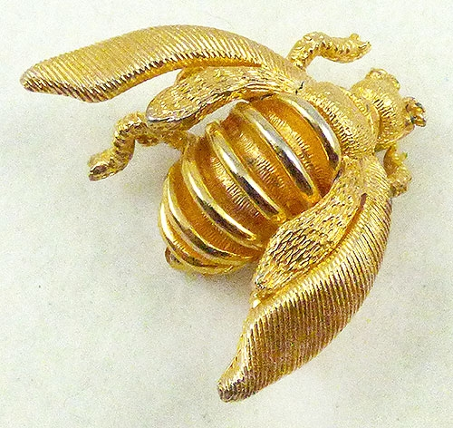 Newly Added Tancer Gold Bee Brooch