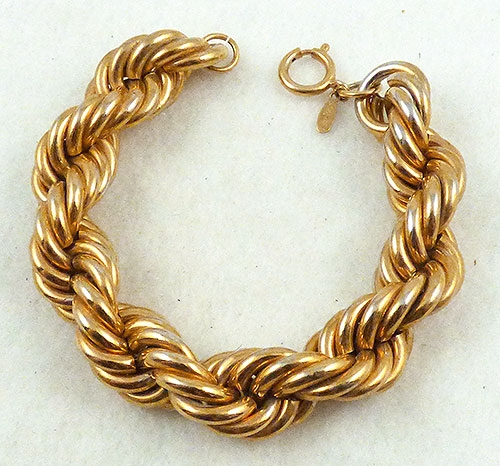 Newly Added Napier Thick Gold Rope Bracelet